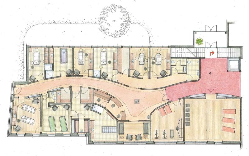 Spa wellness grundriss  BergSPA & Hotel Zamangspitze, Montafon - SPAworld